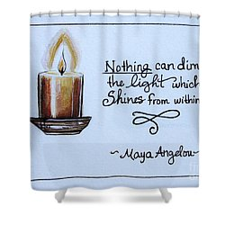 The Light Which Shines From Within Shower Curtain by Elizabeth Robinette Tyndall