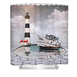 Shower Curtain featuring the photograph The Lighthouse by Juli Scalzi