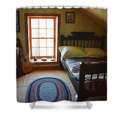 The Lighthouse Keepers Bedroom - San Diego Shower Curtain by Glenn McCarthy Art and Photography