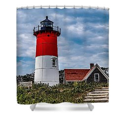 Shower Curtain featuring the photograph The Lighthouse by Kendall McKernon