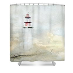 The Lighthouse Shower Curtain by Theresa Tahara