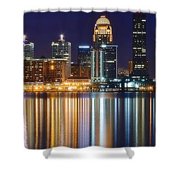 The Lights Of A Louisville Night Shower Curtain