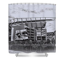 The Linc - Philadelphia Eagles Shower Curtain by Bill Cannon
