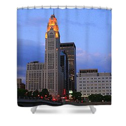 The Lincoln Leveque Tower Shower Curtain