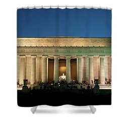 Shower Curtain featuring the photograph The Lincoln Memorial by Mark Dodd