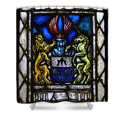 The Lion And The Unicorn Shower Curtain by Colleen Kammerer