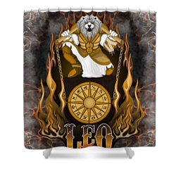 The Lion Leo Spirit Shower Curtain