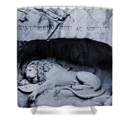 The Lion Of Lucerne Shower Curtain by Dan Sproul
