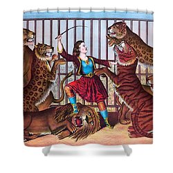 The Lion Queen Print, 1874 Shower Curtain