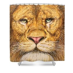 The Lion Roar Of Freedom Shower Curtain by Kent Chua