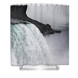 Shower Curtain featuring the photograph The Liquid Curtain by Dana DiPasquale