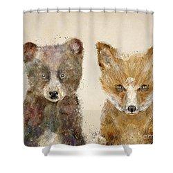 The Little Bear And Little Fox Shower Curtain