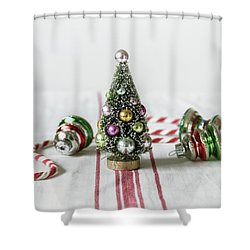 Shower Curtain featuring the photograph The Little Christmas Tree by Kim Hojnacki