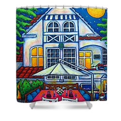 The Little Festive Danish House Shower Curtain by Lisa  Lorenz