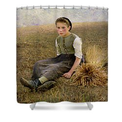 The Little Gleaner Shower Curtain