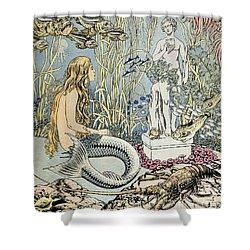 The Little Mermaid Shower Curtain by Ivan Jakovlevich Bilibin