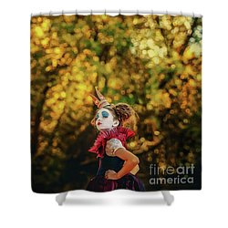 Shower Curtain featuring the photograph The Little Queen Of Hearts Alice In Wonderland by Dimitar Hristov
