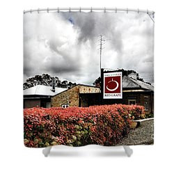 Shower Curtain featuring the photograph The Little Red Grape Winery   by Douglas Barnard