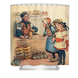 The Little Wooden Shoe Maker Shower Curtain