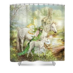 The Littlest Unicorn Shower Curtain
