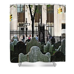The Living And The Dead Shower Curtain by Sarah Loft