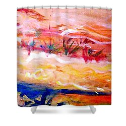 The Living Dunes Shower Curtain