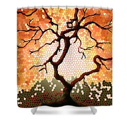 Shower Curtain featuring the painting The Living Tree by Patricia Arroyo