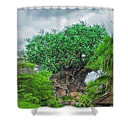 The Living Tree Walt Disney World Mp Shower Curtain by Thomas Woolworth