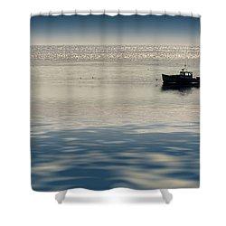 The Lobster Boat Shower Curtain by Rick Berk
