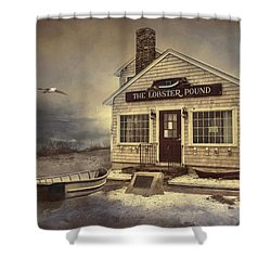 Shower Curtain featuring the photograph The Lobster Pound by Robin-Lee Vieira