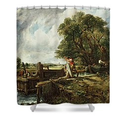 The Lock Shower Curtain by John Constable