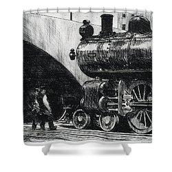 The Locomotive Shower Curtain
