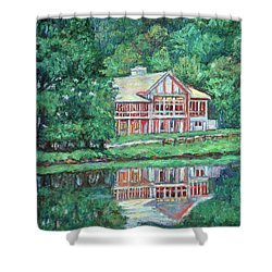 The Lodge At Peaks Of Otter Shower Curtain