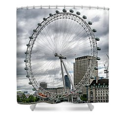 The London Eye Shower Curtain by Alan Toepfer
