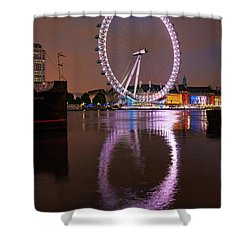 The London Eye Shower Curtain by Nichola Denny