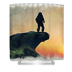 The Lone Explorer... Shower Curtain by Tim Fillingim
