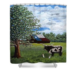 The Lone One Plus 2 Shower Curtain by Suzanne Theis