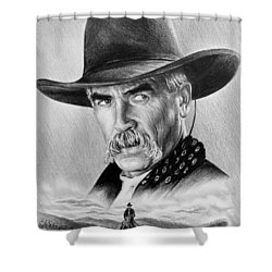 The Lone Rider Shower Curtain