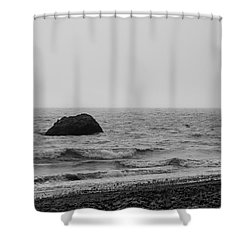 The Lone Rock Shower Curtain
