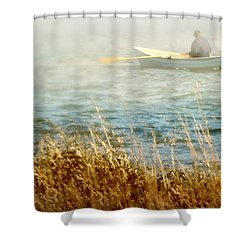 The Lone Rower Shower Curtain