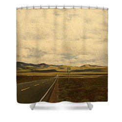 The Loneliest Road Shower Curtain