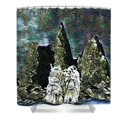 The Loneliest Tree Shower Curtain