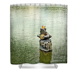 The Lonely Frog King Shower Curtain