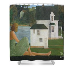 The Lonely Side Of The Lake Shower Curtain
