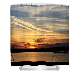 The Lonely Sunset Shower Curtain
