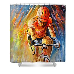 The Lonesome Rider Shower Curtain