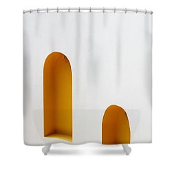 The Long And Short Of It Shower Curtain by Prakash Ghai