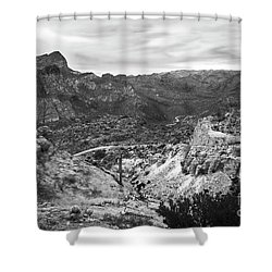 The Long And Winding Trail Shower Curtain by Lee Craig