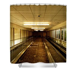 Shower Curtain featuring the photograph The Long Hall by Eric Christopher Jackson