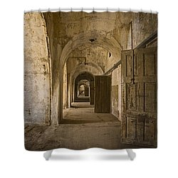 The Long Hall Shower Curtain by Inge Riis McDonald